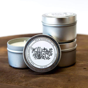 Scented Candle - Herb Garden Travel Tin - Art Is In Cakes, Bakery & SupplyCandlesDefault Title