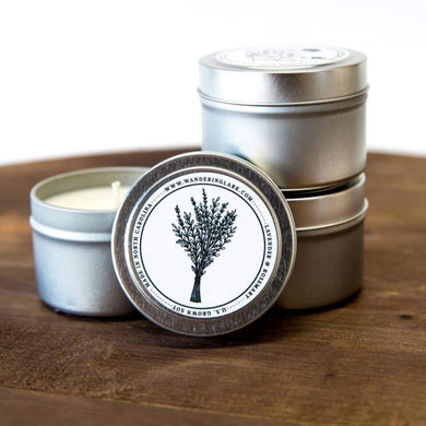 Scented Candle - Lavender Rosemary Travel Tin - Art Is In Cakes, Bakery & SupplyCandlesDefault Title