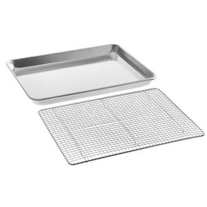 "Sheet Pan with Cooling Grid - Rectangular Shallow Sheet Pan or Bun Pan, 19 guage Aluminum - Art Is In Cakes, Bakery & SupplyBakeware & PansHalf Sheet 19.25""x13"""