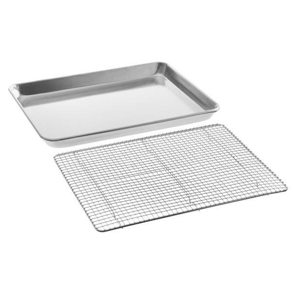 Sheet Pan with Cooling Grid - Rectangular Shallow Sheet Pan or Bun Pan, 19 guage Aluminum - Art Is In Cakes, Bakery & SupplyBakeware & PansHalf Sheet 19.25