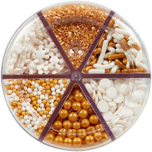 Sprinkles Christmas and Winter White and Gold Sprinkle and Candy Shapes 6 Cell Jar - Art Is In Cakes, Bakery & SupplySprinklesDefault Title