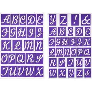 Stencil - Alphabet Stick-N-Stay Stencils™ by Wilton - Art Is In Cakes, Bakery & SupplyStencilDefault Title