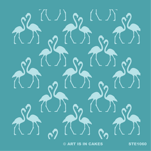 Stencil Flamingo Pattern 5.5 x 5.5 Inches - Art Is In Cakes, Bakery & SupplyStencilDefault Title