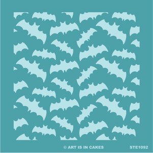 Stencil - Halloween - Bat Pattern - 5.5 x 5.5 Inches - Art Is In Cakes, Bakery & SupplyStencilDefault Title