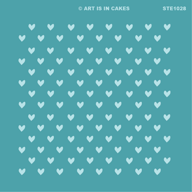 Stencil Heart Pattern STE1028 5.5 x 5.5 Inches - Art Is In Cakes, Bakery & SupplyStencilDefault Title
