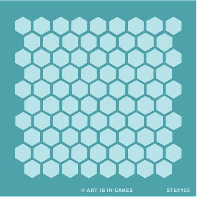 Stencil - Honeycomb Pattern - Large- 5.5 x 5.5 Inches - Art Is In Cakes, Bakery & SupplyStencilDefault Title