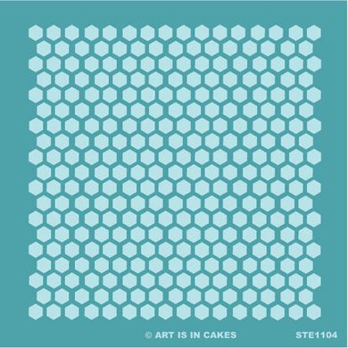 Stencil - Honeycomb Pattern - Small- 5.5 x 5.5 Inches - Art Is In Cakes, Bakery & SupplyStencilDefault Title