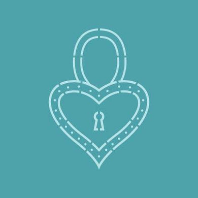 Stencil PYO Heart Padlock STE1194 5.5 x 5.5 Inches - Art Is In Cakes, Bakery & SupplyStencilDefault Title