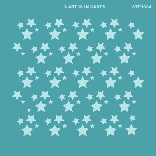 Stencil Star Pattern (v2) 5.5 x 5.5 Inches - Art Is In Cakes, Bakery & SupplyStencilDefault Title