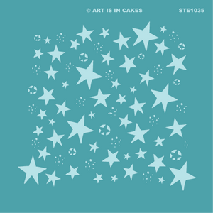 Stencil Star Pattern (v3) 5.5 x 5.5 Inches - Art Is In Cakes, Bakery & SupplyStencilDefault Title