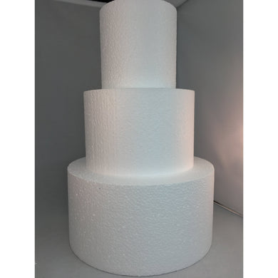 Styrofoam Cake Dummies, round and square, dense white foam in a Variety of Sizes with Crisp Edges - Art Is In Cakes, Bakery & SupplyStyrofoam4x2 round