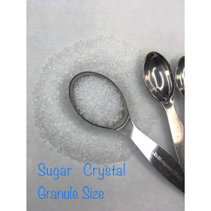 Sugar Crystals in White 4 oz Perfect For Decorating Cakes, Cookies, Cupcakes, And All Other Baked Goods - Art Is In Cakes, Bakery & SupplySprinklesDefault Title