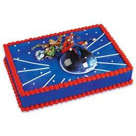 Superheros Superman Flying Themed Decoset® for 1/4 Sheet Cake or 8