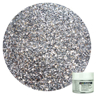 Techno Glitter in American Silver, a Decorative Glitter for your Cakes, Cupcakes, and Desserts - Art Is In Cakes, Bakery & SupplySprinklesNew Style