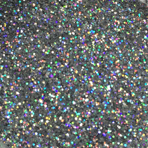 Techno Glitter in Hologram Silver, a Decorative Glitter for your Cakes, Cupcakes, and Desserts - Art Is In Cakes, Bakery & SupplySprinklesold style #43-1876