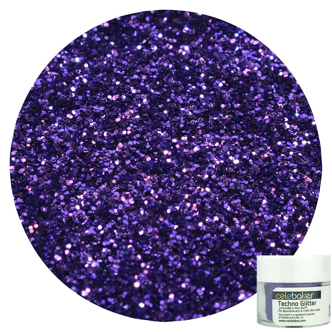 Techno Glitter in Lilac, a Decorative Glitter for your Cakes, Cupcakes, and Desserts - Art Is In Cakes, Bakery & SupplySprinklesNew Celebakes Label