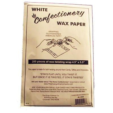 Waxed Paper Confectionery Wrappers 4.5