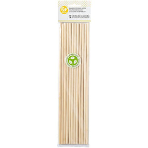 Wilton Bamboo Dowel Rods for Cake Support 12 pack, 12 inch tall .24 inch diameter, - Art Is In Cakes, Bakery & SupplySupport SystemsDefault Title