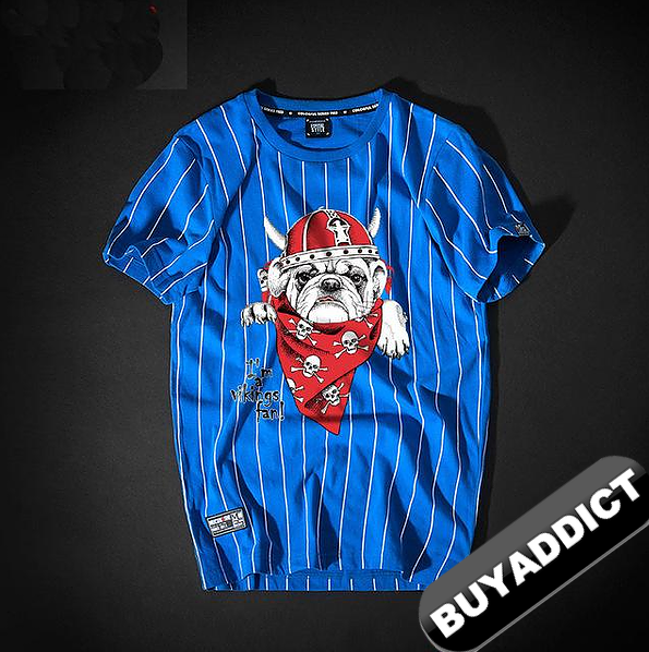 BULDOG Monkey Printing T Shirts Youth BAPE FashionTop Quality