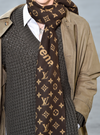 WOOL BROWN Supreme & LV SCARF HIGH QULITY