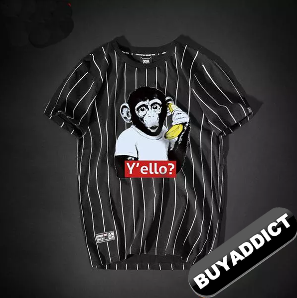 Monkey Printing T Shirts Youth BAPE FashionTop Quality