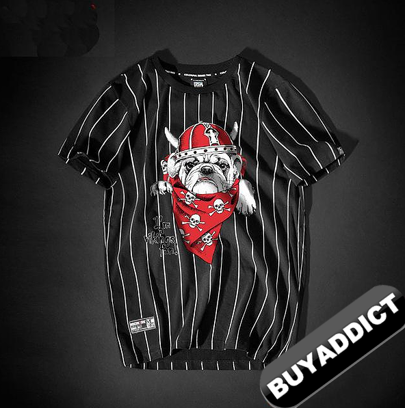 BULDOG Printing T Shirts Youth BAPE FashionTop Quality