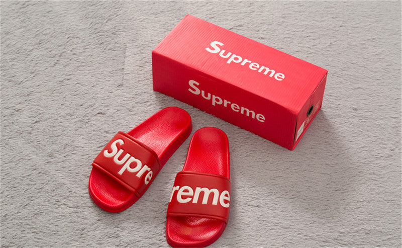40c8661e31d6 Slippers classic red supreme sandals free shipping buyaddict jpg 800x493 Supreme  sandals