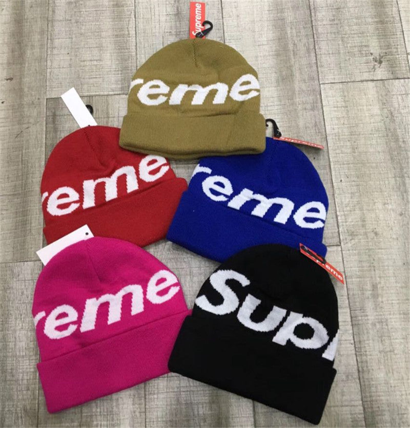 BIG SALE Supreme big logo beanie free shipping