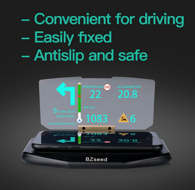 BZseed NEW Head Up DisplayCar HUD GPS Navigation Image Reflector Cell phone