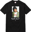 BLACK Supreme nas photo tee hippop T-shirt