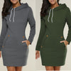 Sportwear Warm Winter High Quality Hoodedes   Casual Mini Dress
