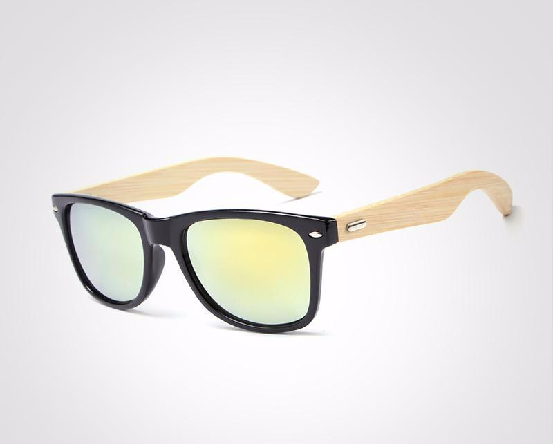 Hot sale Retro Wood Sunglasses Unisex  ultraviolet prevention Night vision - buyaddict