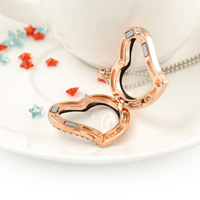 Lovely Jewelry Living Memory Floating Locket Love silver