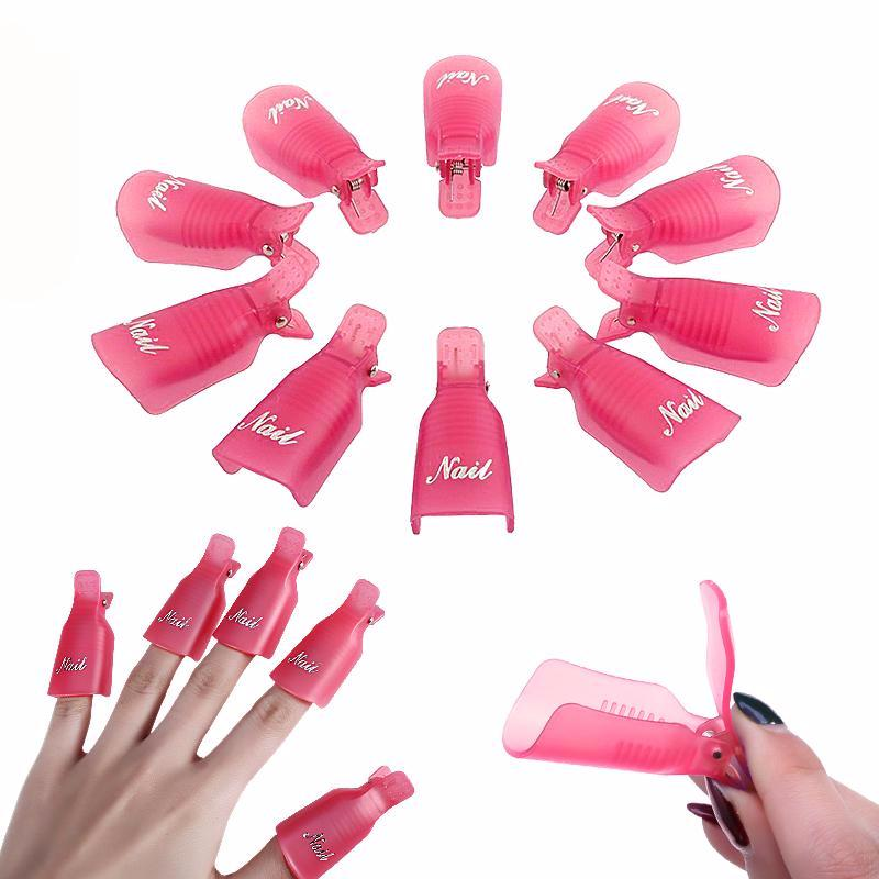 Plastic Nail Art Soak Off Cap Clip UV Gel Polish Remover