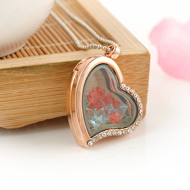 Lovely Jewelry Living Memory Floating Locket Love