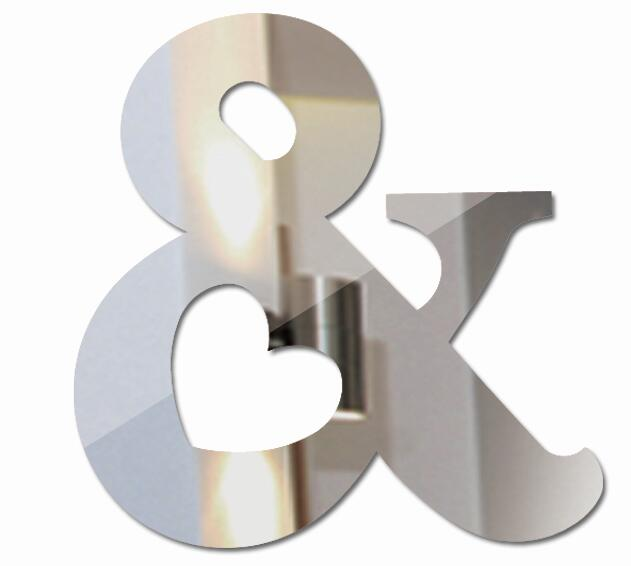 letters home decoration english 3d mirror wall sticker