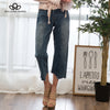 new Irregular straight seven denim jeans pants