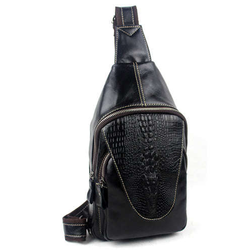 Hot Sale Alligator Pattern Man  Shoulder Bag - buyaddict