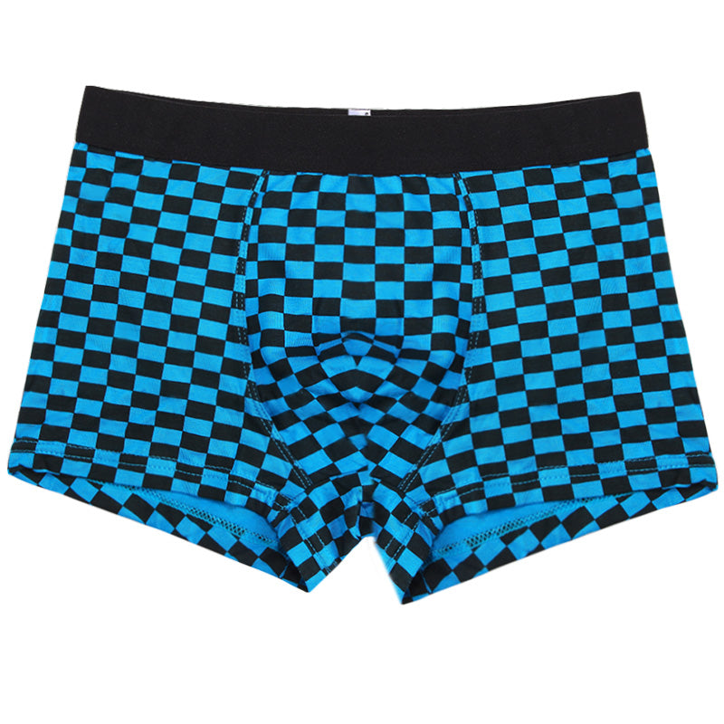 Plaid Shorts Boxers Mens Underwear Breathable
