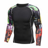 Men Compression Shirts MMA Rashguard Keep Fit Fitness Long Sleeves - buyaddict