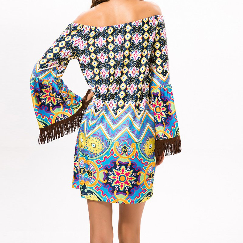 Dress Fashion Vintage Ethnic Tassel  Casual Party Beach