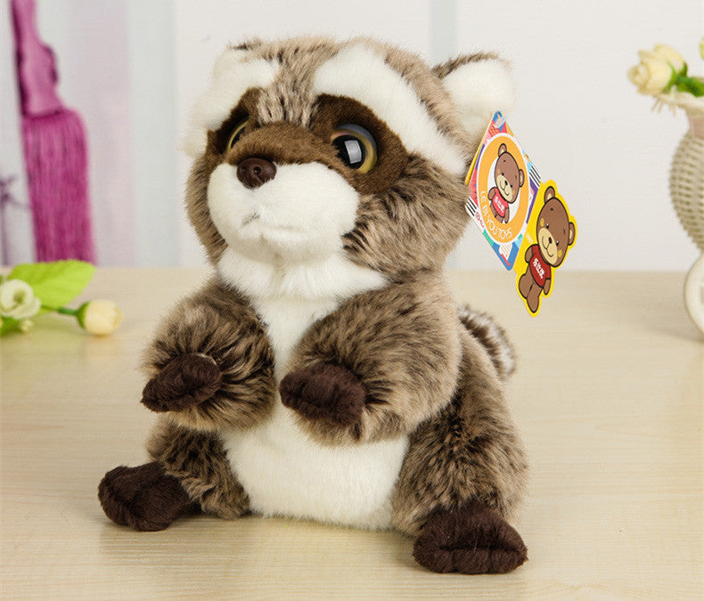 Free Shipping 18CM Lovely Small Racoon Plush Toys