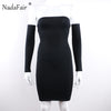 Criss Cross Long Sleeve Bodycon Bandage  Dress