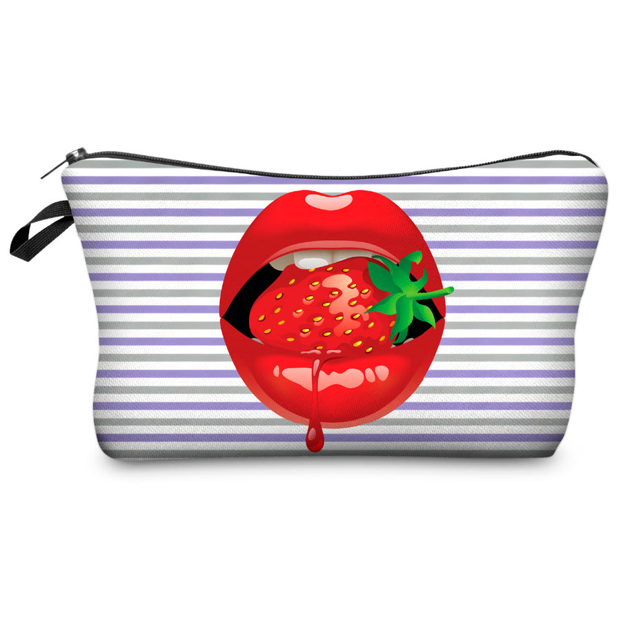 Red Lips Printing Cosmetic Bag