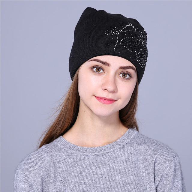 winter hat for women knitted beanies hat