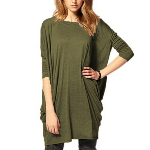 Mini Party Dress Casual Loose Batwing Sleeve