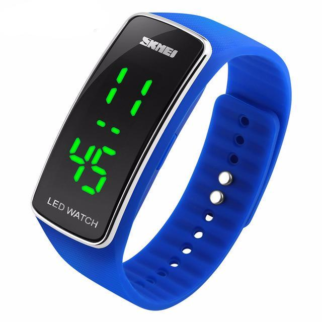 Digital Watch Women Clock LED Display Ladies Wristwatch