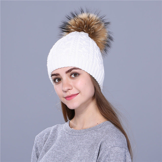 Wool Winter hat Real Natural