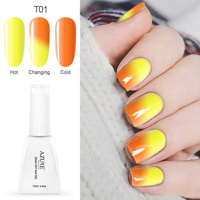 Beauty Temperature Nail Gel Polish Changing Chameleon Color