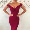 V Neck Criss Cross Wrap Bodycon Bandage  Dresse
